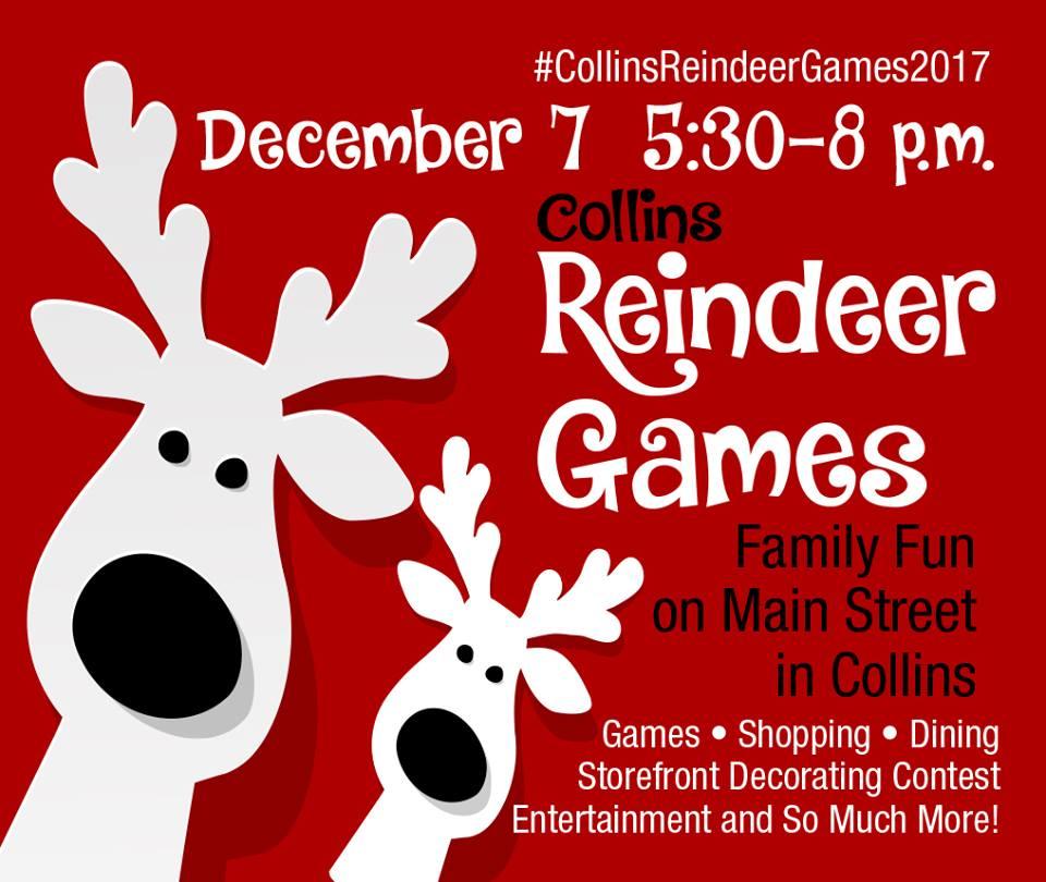 Reindeer Games To Be Held Dec 7 City Of Collins